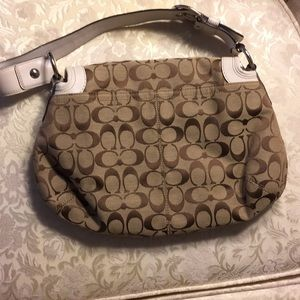 Coach Bags - Coach purse handbag with white strap.